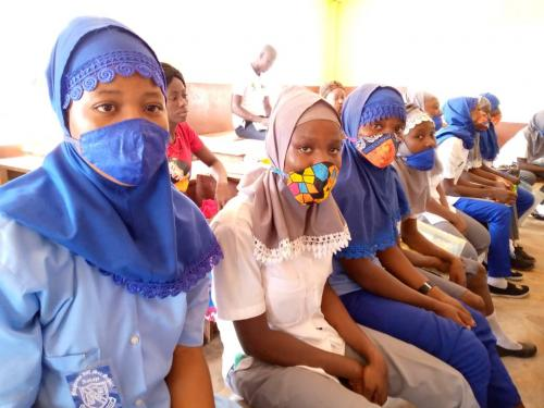 Cross section of members of the Violence against Girls Club