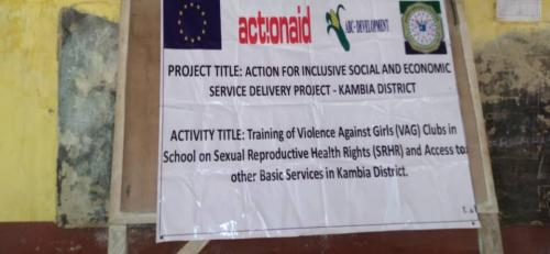 Action for Inclusive Social and Economic Service  Delivery - Training of VAG in Schools