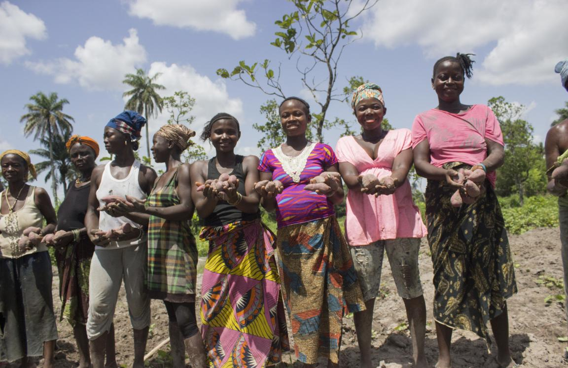 Women farmers happy that their potatoes are a new source of income